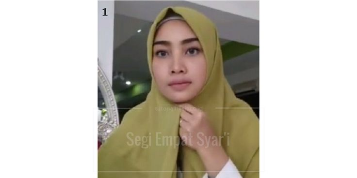 cara memakai hijab segi empat syari