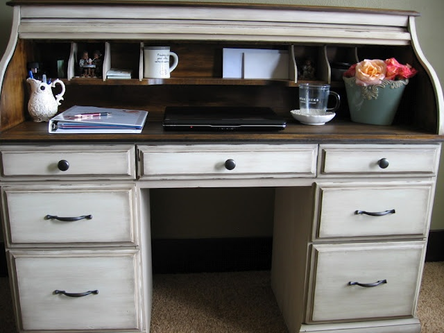The Uncluttered Lifestyle: Roll top desk redo - 111 Best Roll Top Desk Makeover Images On Pinterest Desk Makeover