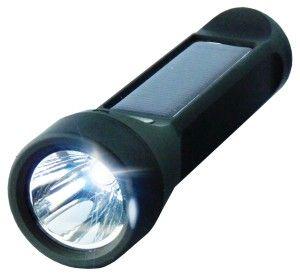 Salamander - połączenie wodoszczelnej latarki solarnej 3W i powerbanku 2400mAh. / Solar powered LED flashlight 3W with 2400mAh powerbank. PLN89.99/ $24