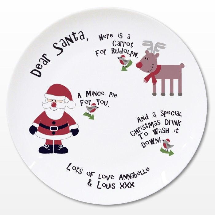 Personalised Christmas Eve Childrens Plate