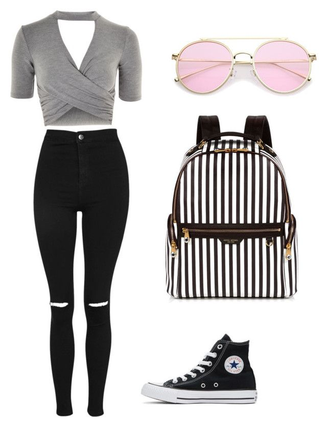 """Untitled #2"" by brigike-toth on Polyvore featuring Topshop, Converse and Henri Bendel"