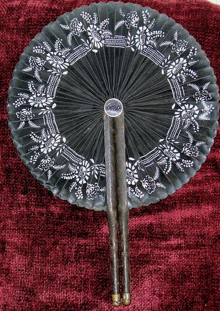 19TH CENTURY MOURNING FANS More