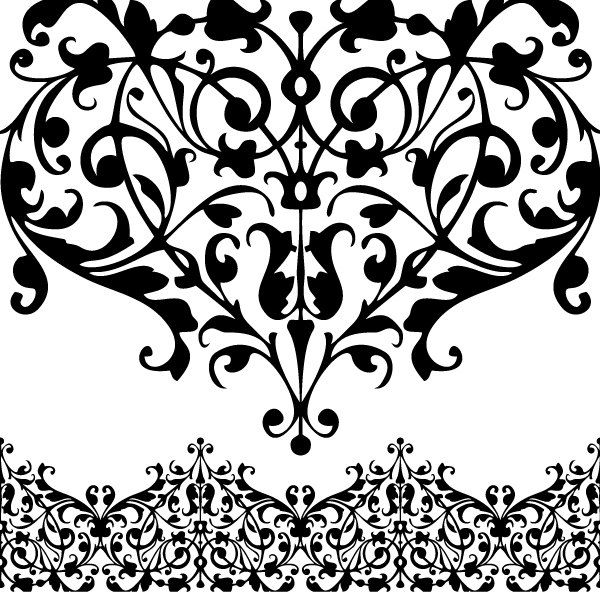 lace border drawing - photo #19