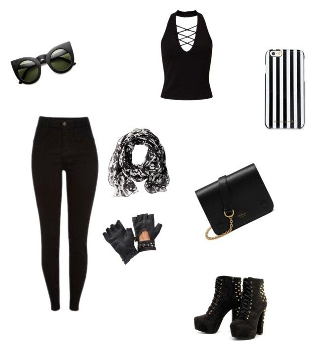 """Black Hipster"" by nightmare-mangle ❤ liked on Polyvore featuring Miss Selfridge, Mulberry, MICHAEL Michael Kors and Calvin Klein"
