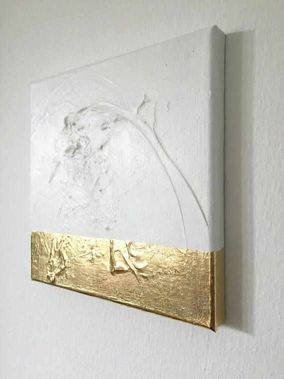 Abstract painting white, gold G17