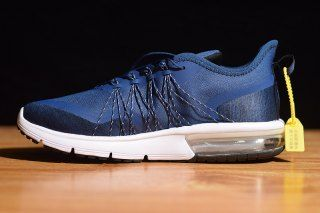 6f0673f5e07 Mens Nike Air Max Sequent 4 Running Shoes Utility Dark Blue White AV5356 008
