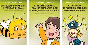 La abeja Maya, Vicky el Vikingo y Marco, reclamos de Bankia en su campaña de planes de pensiones