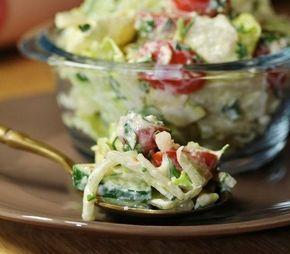 Лёгкий салат с сырно-горчичной заправкой - Простые рецепты Овкусе.ру