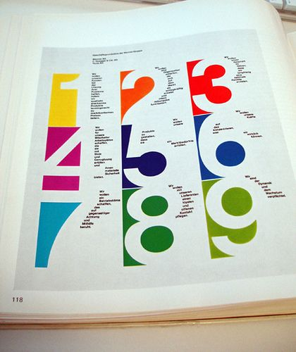 "#typography #numbers #colors  from ""Basic Typography"" – Ruedi Rüegg/Godi Fröhlich 1972"