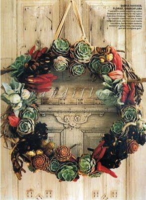 succulent wreath on a gorgeous door