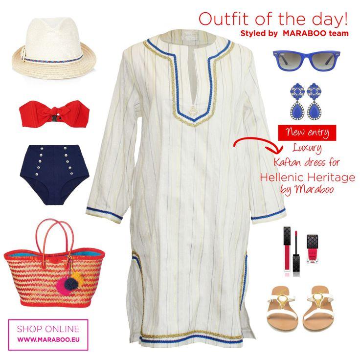 """Maraboo kaftan dress """"Kythira"""" $85€"""