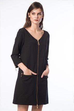 GIZIA ∙ Kadın Tekstil - Black Elbise M12KEL0891HG %70 indirimle 185,00TL ile Trendyol da