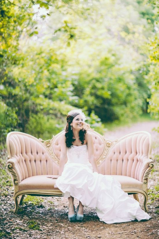 Bridal.  Sofa.  Outdoor.  Vintage.  Mine is patterned, not pink.