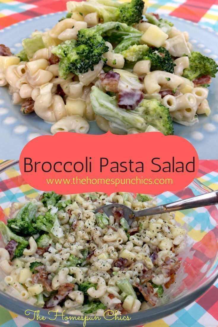 Broccoli Pasta Salad Recipe This tasty, easy summer salad can be used it as a side or as a main dish! The Homespun Chics