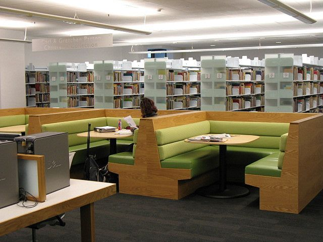Study Booths  I like this idea because students often study late in  restaurants  It   School Library DesignCollege. Best 25  Library furniture ideas on Pinterest