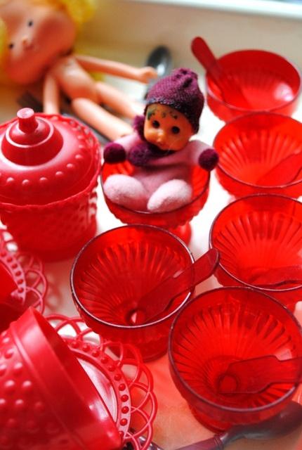 Mini brinquedos apetrechos de cozinha anos 70