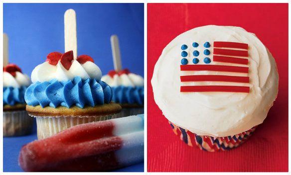 Flag Cupcakes | The TomKat StudioFourth Desserts6, Desserts Ideas, Red White Blue, Blue Desserts, July Desserts, 4Th Of July, July Ideas, July 4Th, Tomkat Studios