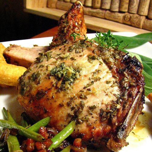 Pork Rib Roast with Pear-Thyme Sauce | Meat | Pinterest