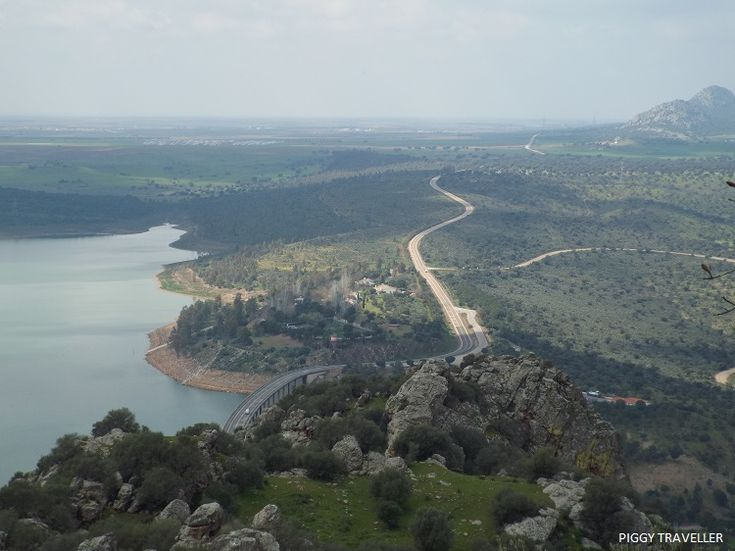 Views from Alange castle. Read more: http://www.piggytraveller.com/blog/extremadura-castles-castillo-de-alange/