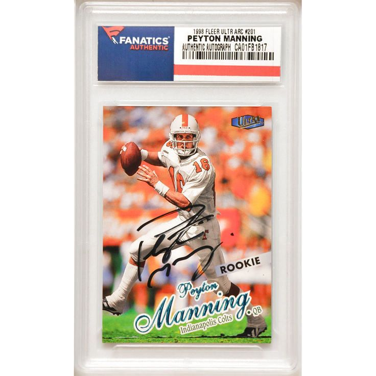 Peyton Manning Indianapolis Colts Fanatics Authentic Autographed 1998 Fleer Ultra Rookie #201 Card - $183.99
