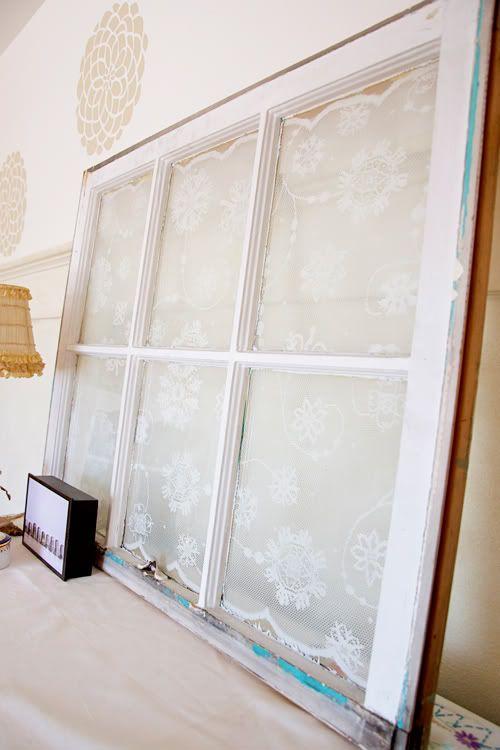 DIY Antique Lace Window