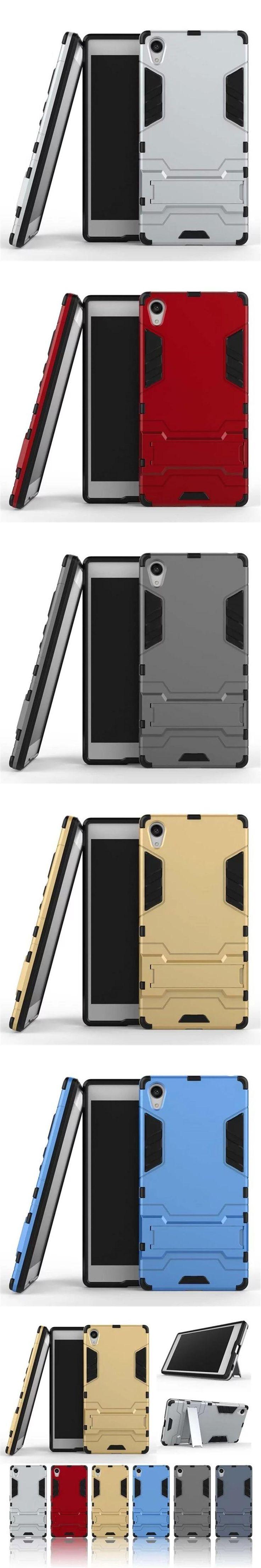 For sony xperia z5 premium Z5 plus Phone Cases Protective Mobile Phone Back Armor Elegant Hybrid Impact Celular Case Stand Cover