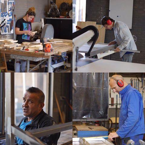 Onze klant(en) bezig in de Openbare Werkplaats in Amsterdam.