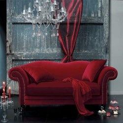 .: Decor, Interior, Red Couches, Velvet Sofa, Color, Living Room, Red Velvet, Furniture, Sofas