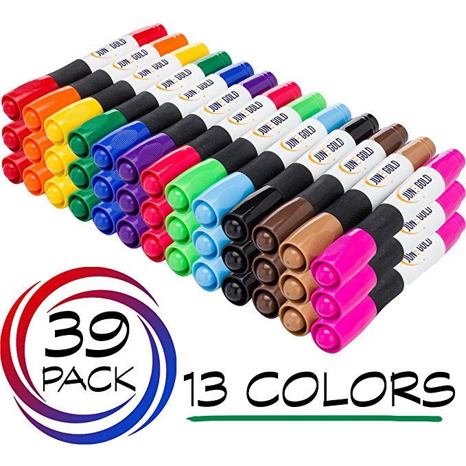 June Gold 39 Assorted Colored Dry Erase Whiteboard Markers 13 Unique Colors Chisel Tip Low Odor Comfortabl Whiteboard Marker Dry Erase Whiteboard Dry Erase