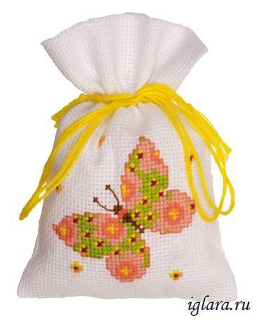 """PN-0146853 / Саше `Зелёная бабочка` / Наборы для вышивания крестом. Интернет-магазин """"Иглара"""""""