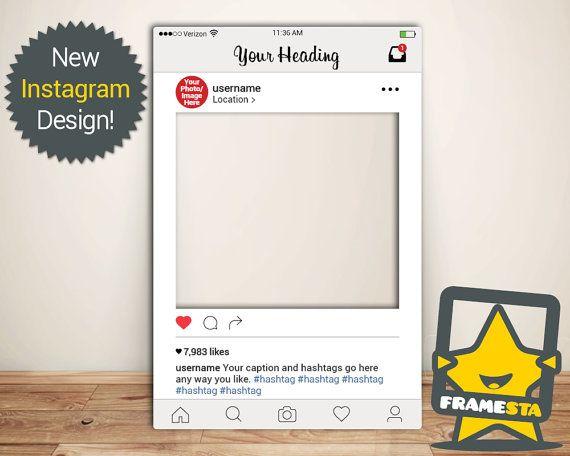Best 15 Instagram Frames (Prop Booth Props) images on Pinterest ...