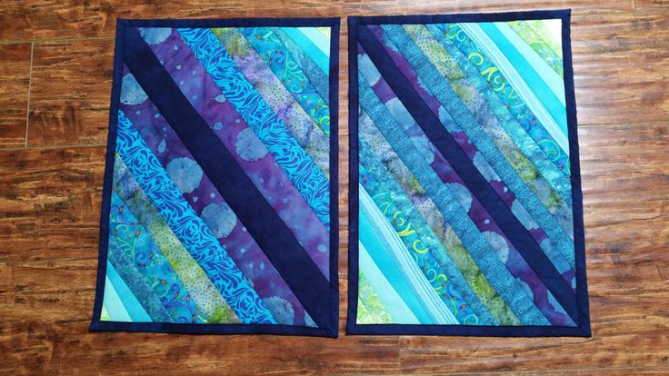 Placemats - pair of quilted blue, turquoise, aqua, green, coastal, beach, nautical placemats by SomeBeachNCozyChic on Etsy https://www.etsy.com/listing/275438782/placemats-pair-of-quilted-blue-turquoise