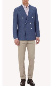 Isaia Tailor-ready Double Breasted Two-button Sportcoat