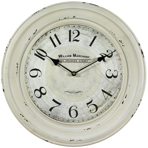 Round Indoor 11 Wall Clock White Wall Clocks Wall Clock Vintage Wall Clock