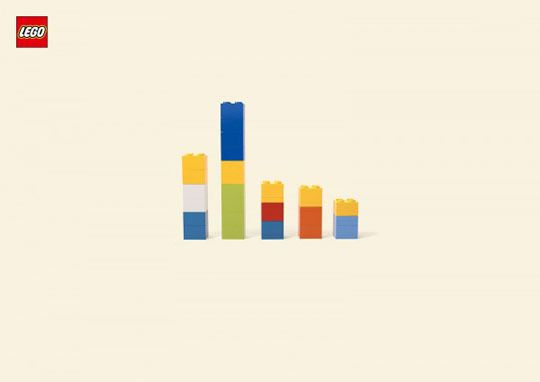 Just when we thought the conversation about minimalist posters in children's rooms was winding down, LEGO's come out with a new well-designed, thoughtful campaign by the Jung von Matt agency. It's a welcome return to the legos of lore that encourage imagination, rather than dictate to it.