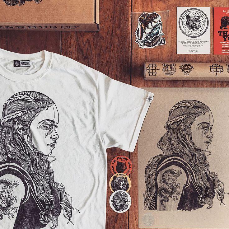 'Dragon Lady' artwork by Luke Dixon  #gameofthrones #GOT