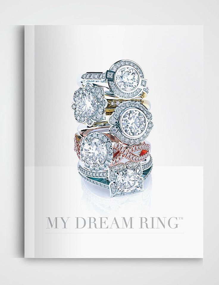 My Dream Ring engagement ring product catalogue designed by Emma Wright