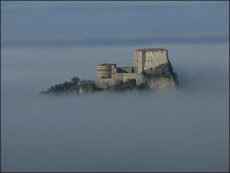 San Leo in the fog
