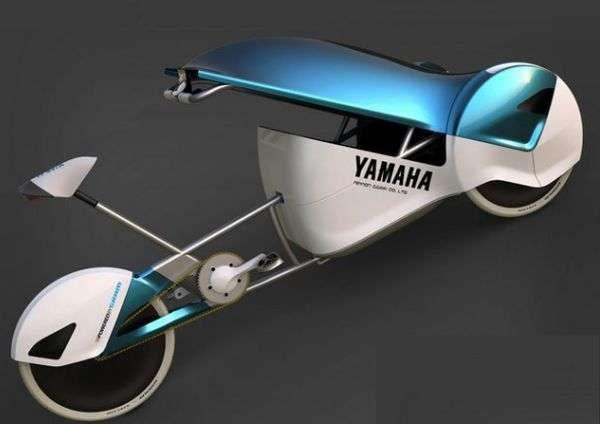 The Yamaha Hecta is a 21st Century Christiania Bike #RFID trendhunter.com
