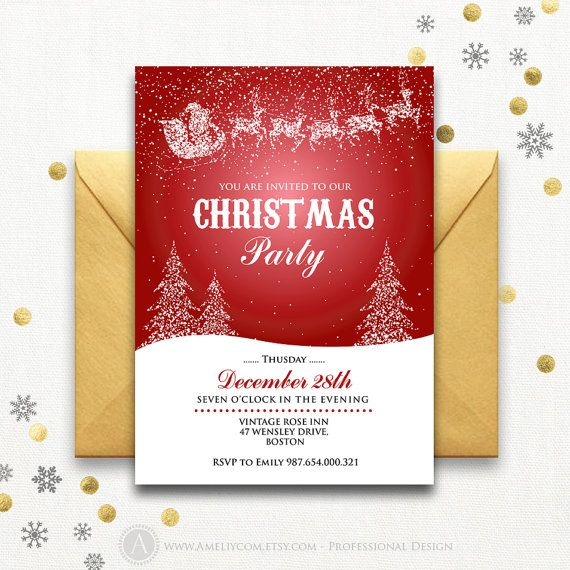 The 25+ best Christmas party invitation template ideas on - free invitations templates for word