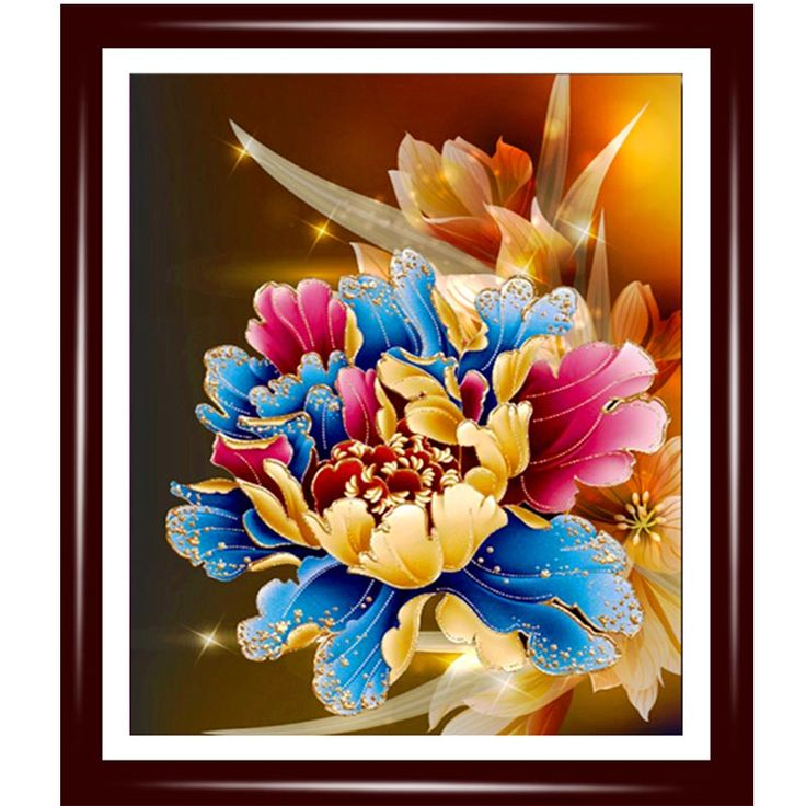 5D diy diamond Painting peony flower pictures diamond embroidery flower needlework 3D wall sticker home decor #Affiliate