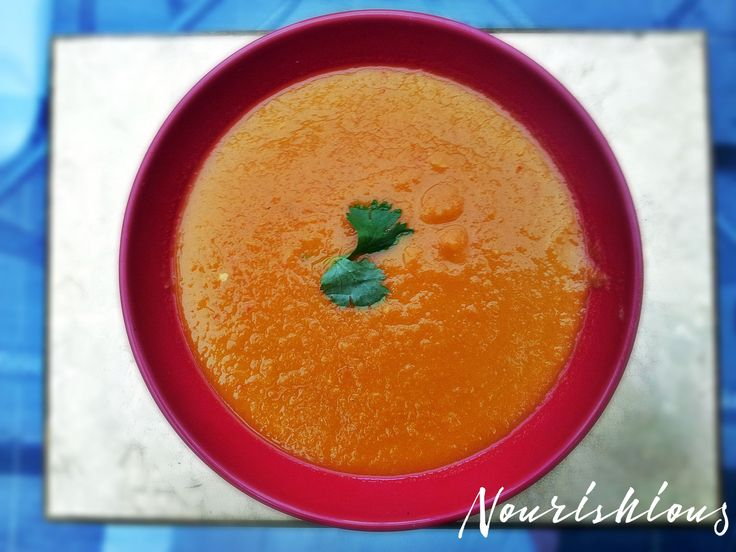 Slow cooker carrot & mango soup (spicy hot!).  Add a mango, ginger, garlic and chillies to an innocent carrot soup and you have a super-soup! This is spicy hot and perfect for days when you feel you're coming down with the snuffles.