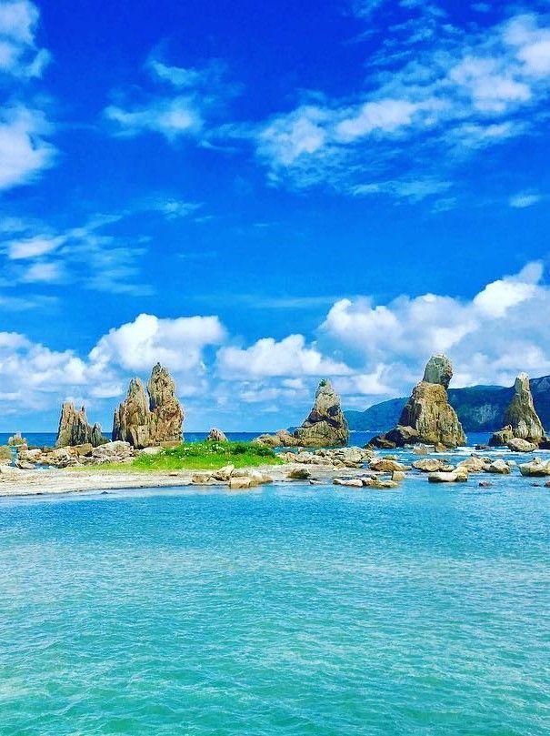 Hashigui Iwa Rock, Kushimoto, Wakayama, Japan, 橋杭岩, 串本町,  和歌山,  日本