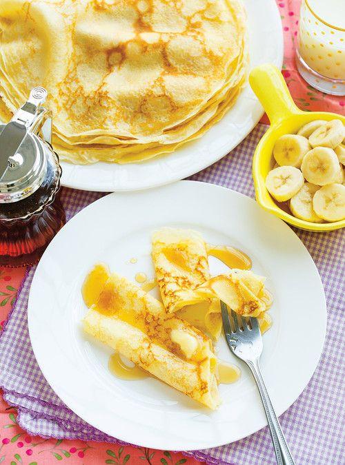 Crêpes fines à déjeuner Recettes | Ricardo