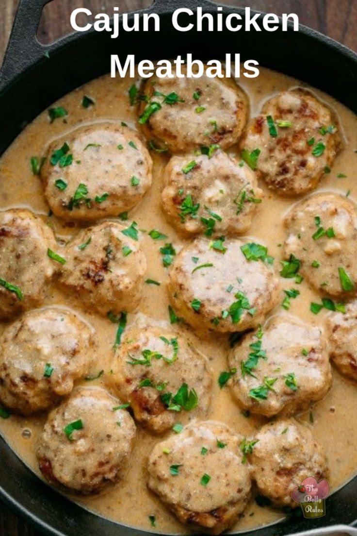 Cajun Chicken Meatballs Recipe Ground Chicken Recipes Chicken