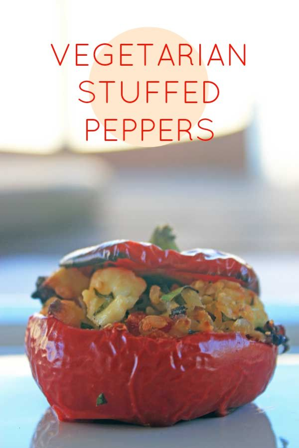 A flavour-packed brown rice version of a vegetarian stuffed pepper. Capsicum, FTW!