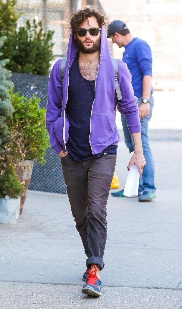 Candid New York Style: Justin Theroux + Penn Badgley