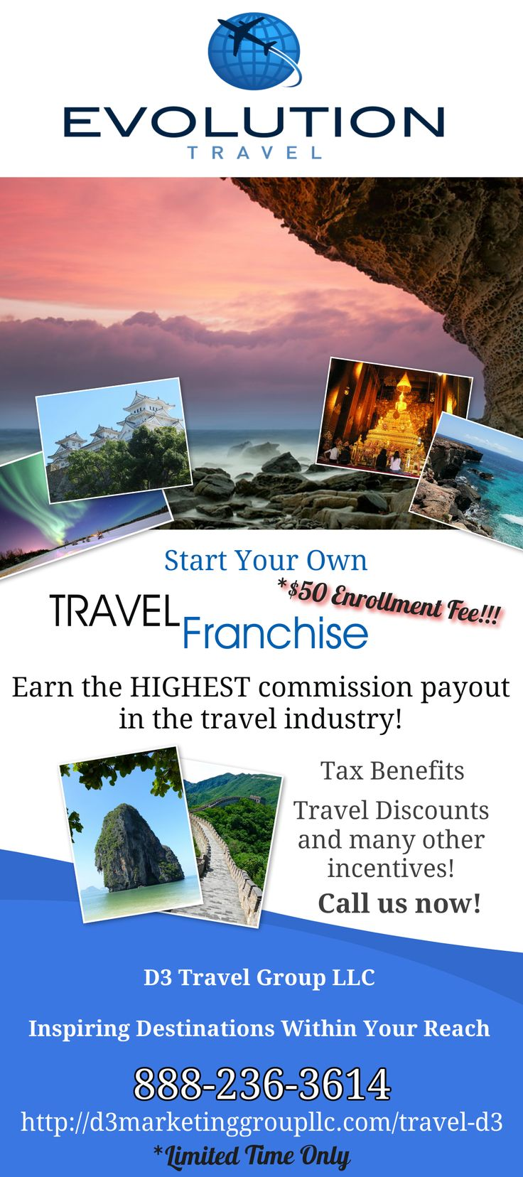 You won't find a commission payout any higher in the travel industry! Let me show you how you can book your family vacation and pay yourself, dine at a discount, get a discount on your car rental, take the family to a ball game or the theater, discuss where you're cruising to for the family reunion, book your cousin's destination wedding AND get VIP Entry & Table & Bottle Service at any Las Vegas Nightclub...all through your own travel franchise!!!