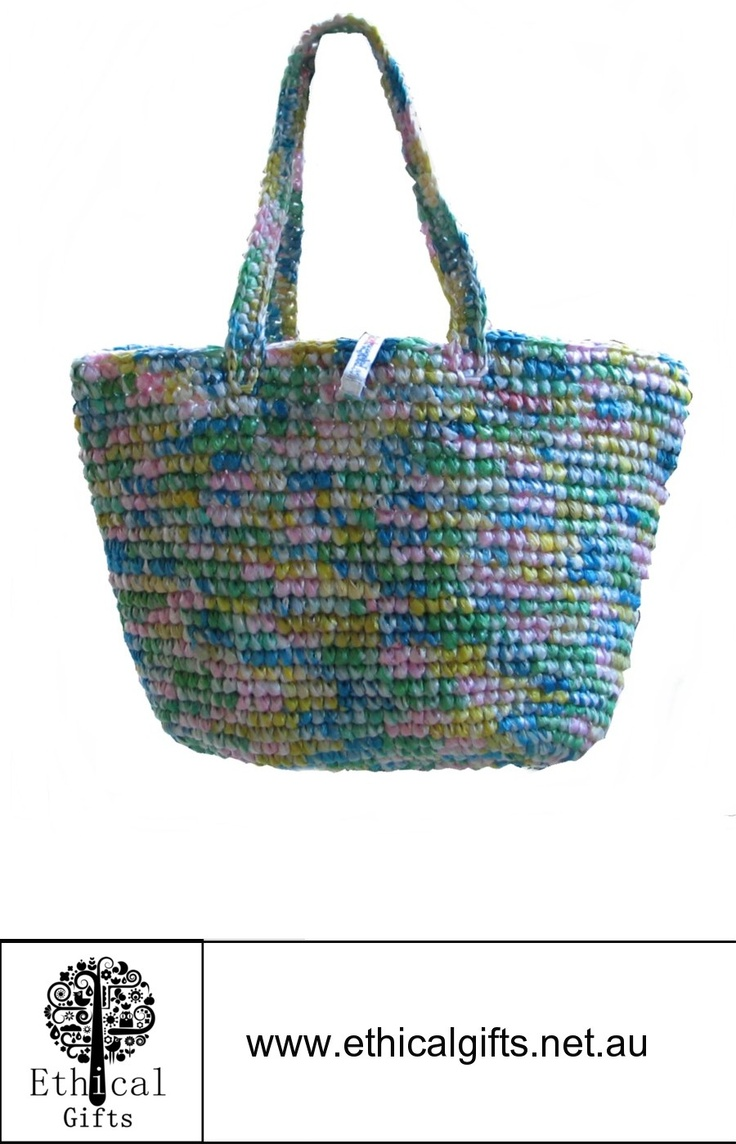 Recycled rice bag purse - A Cute Recycled Bag Fashionable And Fun This Ecofriendly Bag Is Made From Crocheted Waste