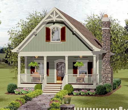 plan 20115ga cozy cottage with bedroom loft - Small Cottage
